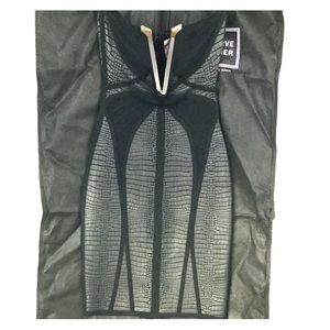 Limited Edition Small Black Strapless Herve Leger